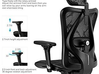 Ergonomic Office Chair  Computer Chair Desk Chair High Back Chair Breathable  Skin Friendly Mesh Chair Adjustable