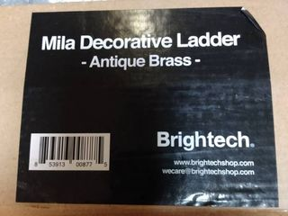 Brightech Bt dl ml ntq brss   Mila Decorative ladder  Antique Brass