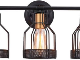 Pauwer Industrial Bathroom Vanity light Metal Cage Wall Sconce Edison Vintage Wall light Fixture for Bathroom