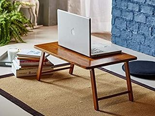 Pj Wood Folding laptop Desk And Bed Tray Table   Walnut