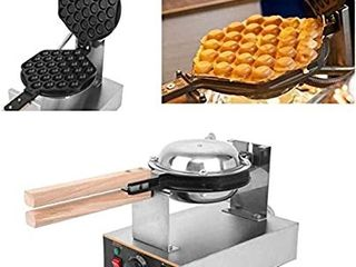Ridgeyard 110V 1400W Hong Kong Style Waffle Maker Egg Bubble Maker Rotated Nonstick Grill