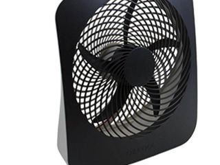 O2COOl 10 in  Portable Desk Fan with USB Charging Port  Gray