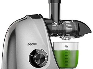 Cold Press Juicer  Jocuu Masticating Juicer Slow Juicer Extractor  Juicer Machines with Two Speed Modes  Easy to Clean  Quiet Motor  Reverse Function  with Brush and Recipes  for Fruits and Vegtables