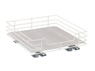 Household Essentials Glidez Single Basket Sliding Cabinet Organizer  White