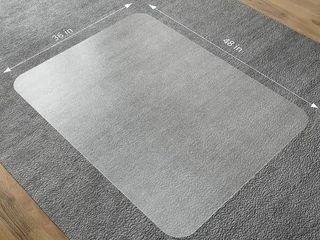 SlYPNOS Translucent Rectangular Office Chair Mat