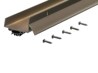 M D Products 69554 36  Bronze Anodized U Shaped Door Bottom with Drip Cap SCREWS NOT INClUDED