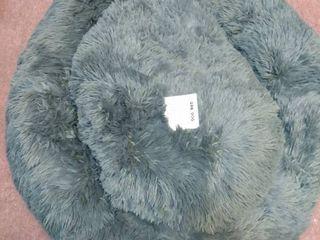 FlUFFY GREY DOG BED  30  ROUND