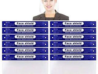 Reusable Face Shield  12 PCS Anti fog Full Safety Face Shield  Universal Reusable Face Protective Visor for Eye Head Protection  Anti Spitting Splash Facial Cover for Women  Men