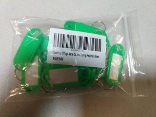 Dimart 20 Pcs Key ID label Tags Split Ring Keyring Keychain Green