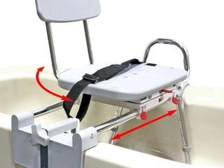 Eagle Health Supplies Tub Mount Swivel Sliding Bath Transfer Bench  77762    Regular   Heavy Duty Shower Bathtub Chair   Eagle Health Supplies