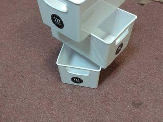 MODERN DESIGN STORAGE BOX 5 3 4  x 9 3 4  set of 3 each