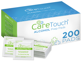 Care Touch Sterile Alcohol Prep Pads  Medium 2 Ply   200 Alcohol Wipes