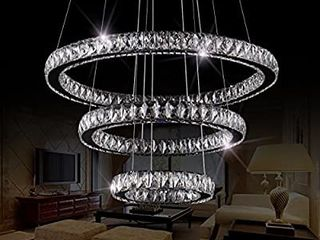 lED Chandelier Modern Flush Mount Crystal Ceiling Pendant lights 60 inch length 28 inch Outer Diameter  Round 3 Rings