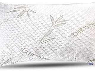 Bamboo Pillow   Premium Pillows for Sleeping   Memory Foam Pillow with Washable Pillow Case