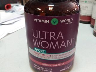Vitamin World Ultra Women Sport Daily Multi Vitamin 180 Coated Caplets Exp 11 21