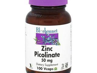 BlueBonnet Zinc Picolinate Vegetarian Capsules  50 mg  100 Count