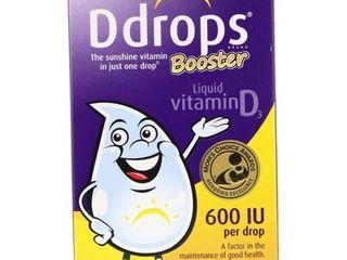 Ddrops Booster Vitamin D liquid Drops 600 IU   2 8ml