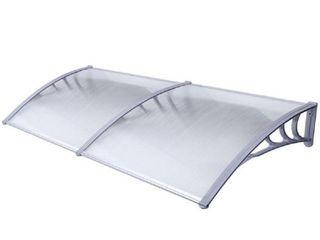 AlEKO Polycarbonate Outdoor Door Cover   40 x 80 Inches   Gray