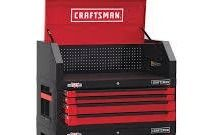 CRAFTSMAN 3000 Series 41 in W x 24 5 in H 4 Drawer Steel Tool Chest  Red  NO KEYS