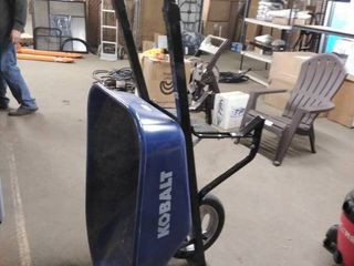 kobalt wheel barrel blue