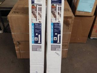 Deckorators White Textured Aluminum Deck Post only 2 5  X 2 5  X 39  2 boxes
