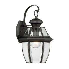 Portfolio Brayden 14 13 in H Mystic Black Outdoor Wall light
