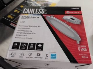 Utilitech White Canless led Recessed lighting Kit  Fits Openings 6a Wide