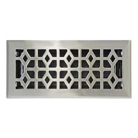 allen   roth Marquis Satin Nickel Steel Floor Register  Rough Opening  10 in x 4 in  Actual  11 44 in x 5 36 in