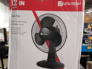 utilitech 12 inch desk fan