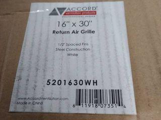 accord return air grille 16 x 30 white