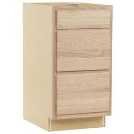 Kitchen Classics 35 in x 18 in x 23 75 in Unfinished Oak Drawer Base Cabinet door broken
