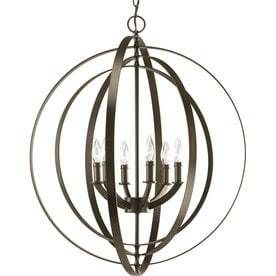 Progress lighting Equinox 6 light Antique Bronze Chandelier