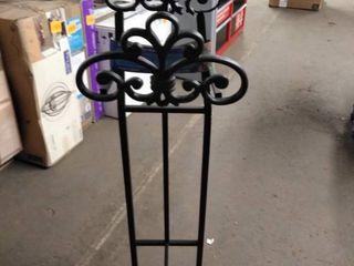 Steel Stand Hose Reel Water Garden Standing Pipe Metal Holder Hanger Wall