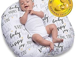 Boppy Newborn Hello Baby lounger  Black And Gold