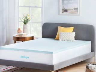 linenspa Essentials 2  Gel Memory Foam Mattress Topper