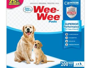 Four Paws 200 Ct Wee Wee Dog Training Pads Box