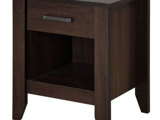 One Drawer Wooden Nightstand