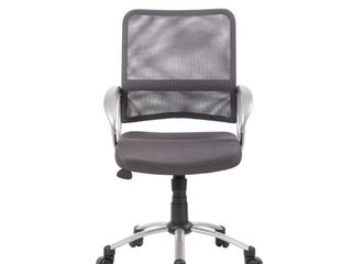 Boss Mesh Swivel Chair   Charcoal Gray