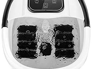 Ovitus Foot Spa Bath Massager with Heat and Bubble  8 Massager Rollers with Mini ACU Massage Points  Temperature Control and Time Setting Through Digital Screen  Clean and Relax Feet