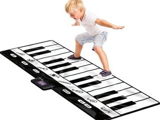 Click N  Play Gigantic Keyboard Play Mat  24 Keys Piano Mat  8 Selectable Musical Instruments   Play  Record  Playback  Demo mode