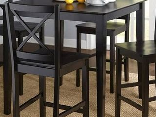 Simple living Cross Back Counter Height Table ONlY Black Painted   inspected