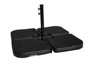 4 Piece Universal Standard Cross Base Umbrella Weights  Black