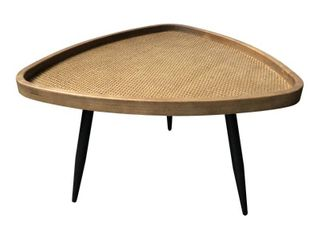 Moe s Home Rollo Rattan Coffee Table With Natural and Black Finish KK 1019 24