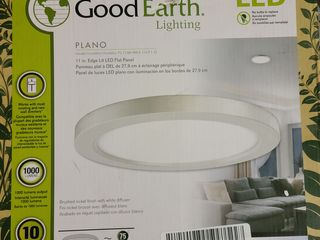 Good Earth Plano led 11  lighting Fixture brushed Nickel Finish fl1196 nk3 11lf1  missing hardware