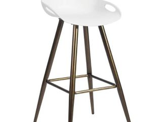Silver Orchid Melies Fixed Height Bar Stool  Set of 2     Retail 128 99   inspected