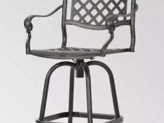 Arlana Outdoor Aluminum Bar Chair by Christopher Knight Home   Retail 1303 99