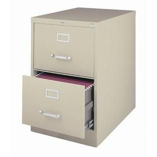 Hirsh 25 inch Deep 2 drawer legal size Commercial Vertical File Cabinet  Retail 197 99