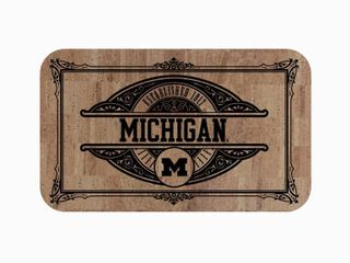 NCAA   University of Michigan Sports Team logo Cork Comfort Mat 18  x 30