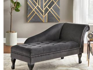 Simple living Marcella Storage Chaise  Retail 392 49   not complete missing back piece