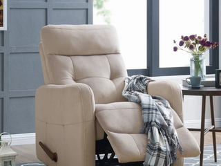 Copper Grove Pallas Rocker Platinum Grey Velour Recliner Chair